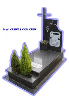 Sepultura de tierra - modelo curvas con cruz