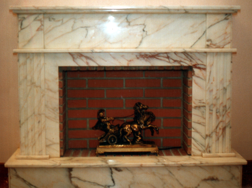 chimenea mármol